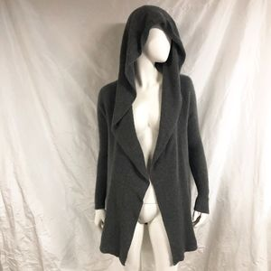 A PEA IN THE POD Cashmere Hooded Cardigan Sweater